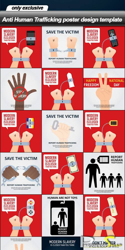 Anti Human Trafficking poster design template