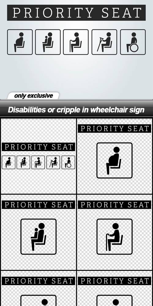 Disabilities or cripple in wheelchair sign